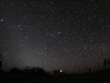 Zodiacal light and Orion at daybreak.