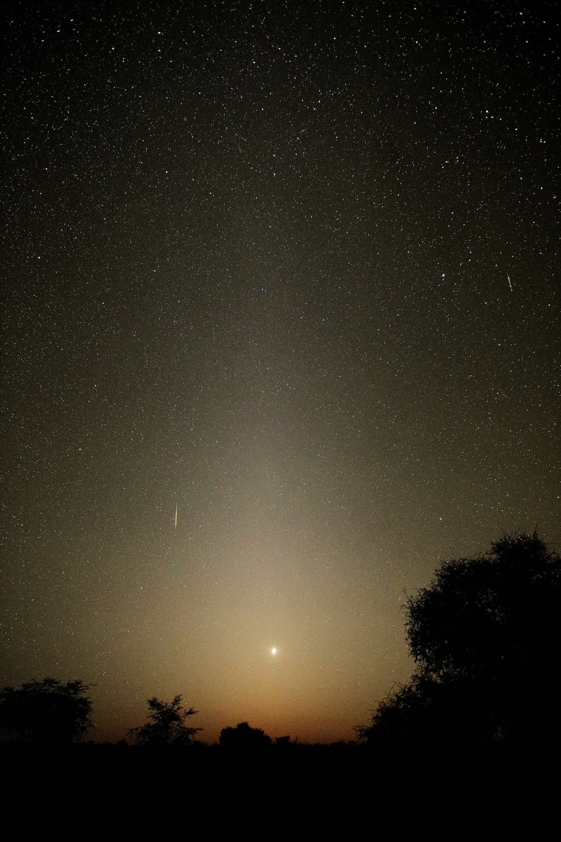 Zodiacal light with Venus and Meteor.