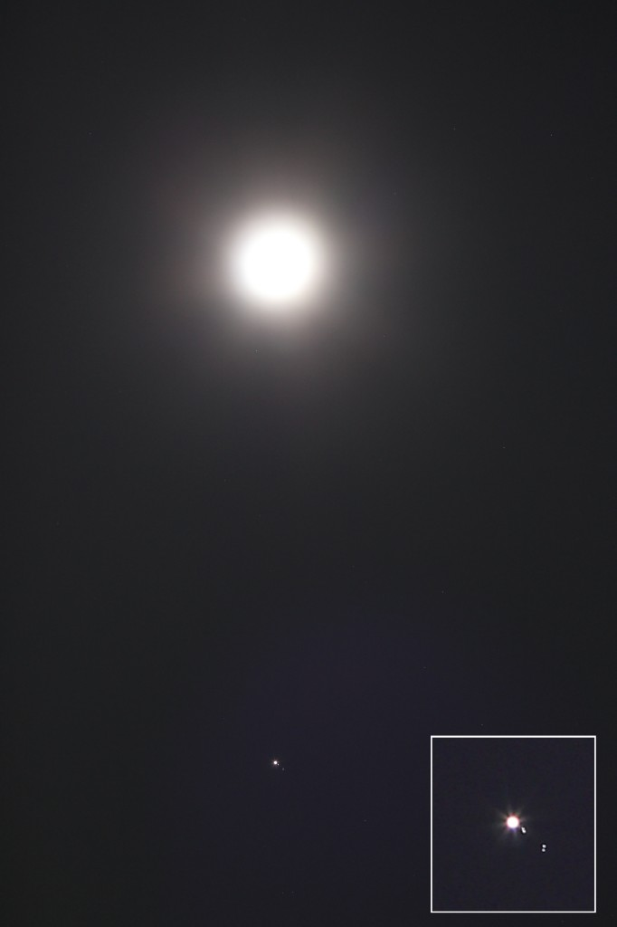 Moon and Jupiter.